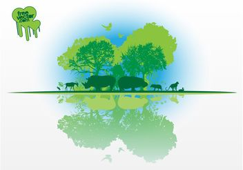 African Nature Vector - Free vector #145891