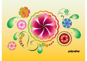 Spring Summer Flowers - vector gratuit #145941