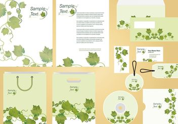 Ivy Vine Identity and Profile Template Vector - Free vector #146001