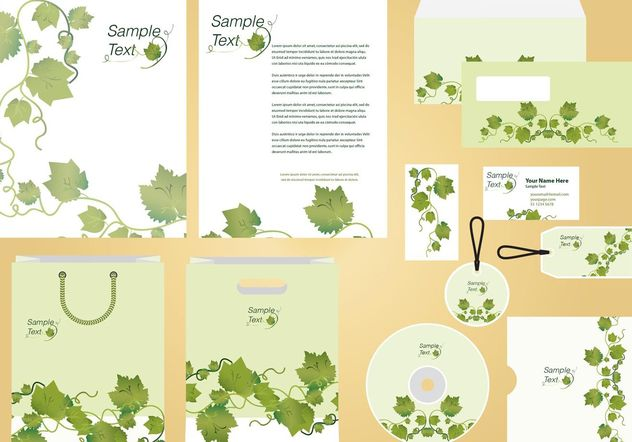 Ivy Vine Identity and Profile Template Vector - vector gratuit #146001