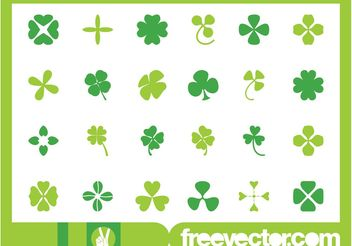 Clover Leaves Set - vector gratuit #146021