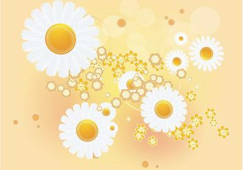 Daisy Background - vector gratuit #146071