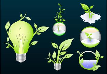 Eco Icons - vector #146121 gratis