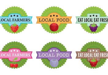Local Farm Label Vectors - Free vector #146181