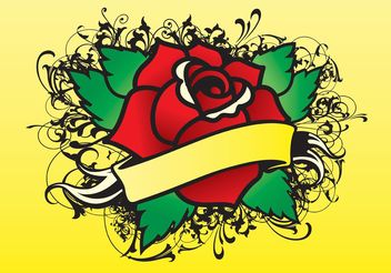 Rose Tattoo Vector - vector gratuit #146231