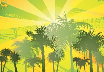 Palm Trees - vector gratuit #146291