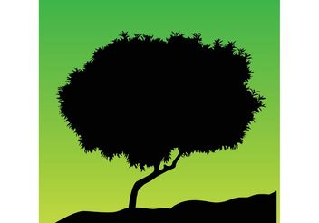 Tree Silhouette Vector - бесплатный vector #146301