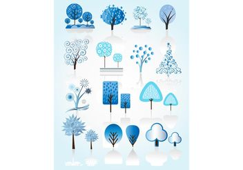Winter Tree Vectors - vector gratuit #146331