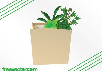 Plants In Paper Bag - Kostenloses vector #146401