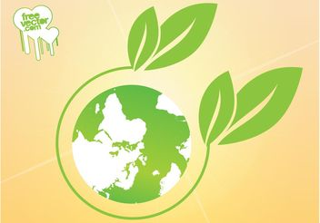 Green Planet Icon - vector #146431 gratis