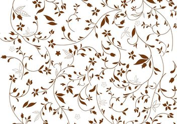 Brown Flowers Background - vector #146541 gratis
