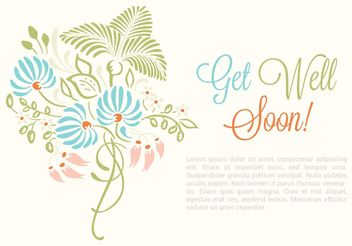 Free Vector Get Well Soon Card - Kostenloses vector #146581
