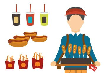 Fast Food Products - vector gratuit #146771