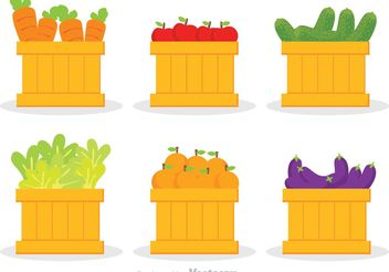 Vegetables And Fruits Vector - Kostenloses vector #146781