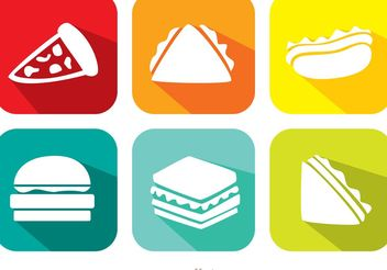 Bright Food Vector Icons - Free vector #146801