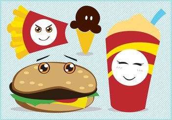 Fast Food Vector - Free vector #146821