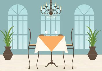 Free Restaurant Interior Vector - бесплатный vector #146841