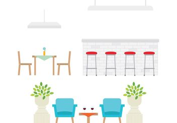 Restaurant Furniture - vector gratuit #146861