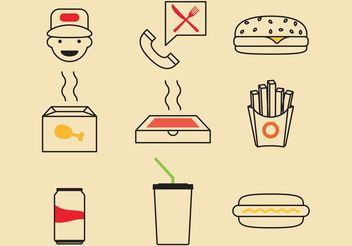 Fast Food Vector Icons - vector gratuit #146871