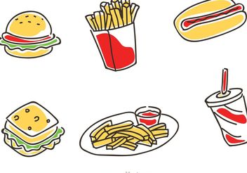 Fast Food Cartoon Vector - бесплатный vector #146881