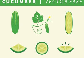 Vector Free Cucumbers - Free vector #146911