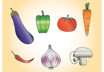 Free Vector Vegetables - vector gratuit #146951