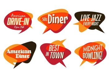 50s Diner, Jazz, and Fast Food Pack - Free vector #147031