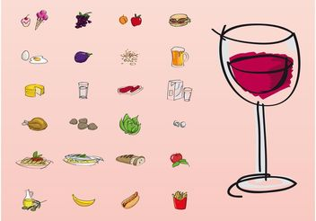 Food And Drinks - vector gratuit #147071
