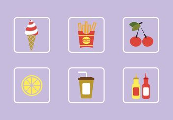 Food Vectors - vector gratuit #147121