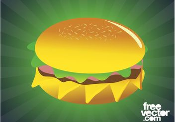 Tasty Burger Graphics - Free vector #147141
