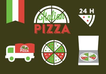Italian Badge Vectors - Free vector #147151