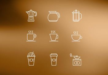 Free Line Coffee Vector Icons - Free vector #147181