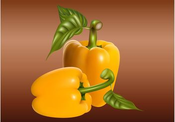 Realistic Peppers - Free vector #147251