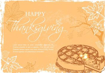 Free Happy Thanksgiving Vector Illustration - Kostenloses vector #147301