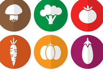 Vegetable Vector Icons - бесплатный vector #147321