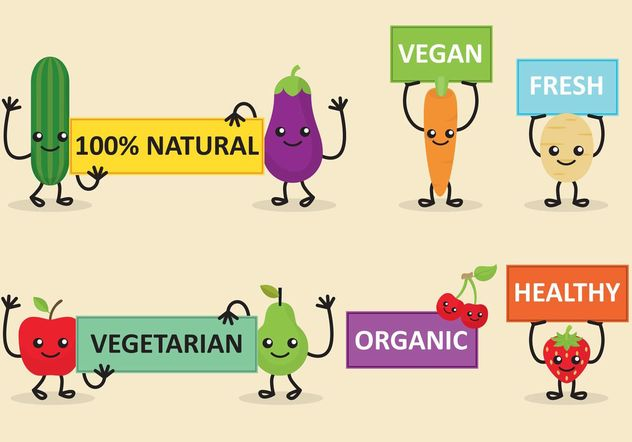 Veggie Friends Diet Banner Vectors - Free vector #147341