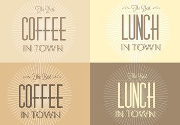 Free Retro Sunburst Cafe Backgrounds - vector gratuit #147361