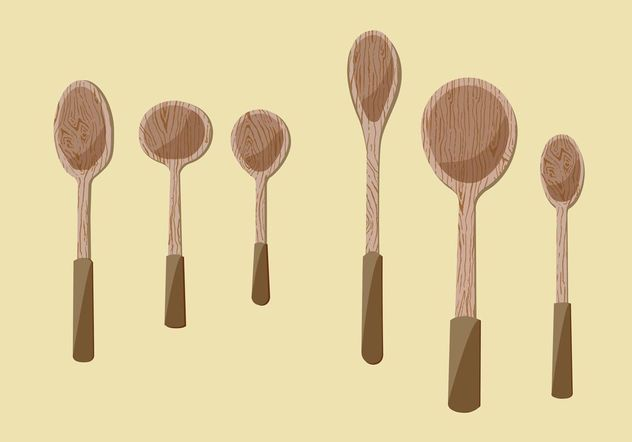 Wooden Spoon Vector Illustrations - Free vector #147391