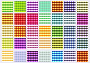 Tablecloth Patterns - бесплатный vector #147411