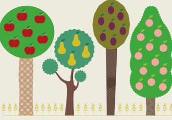 Summer Tree Vectors - Free vector #147431