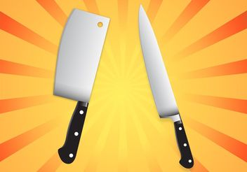 Kitchen Knives Set - vector #147471 gratis