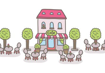 Free outdoor cafe vector - Free vector #147481