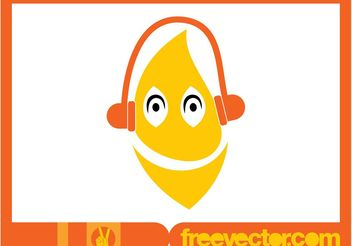 Musical Lemon Vector - vector gratuit #147581