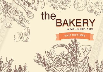 Old Basket Bakery Background - Free vector #147601