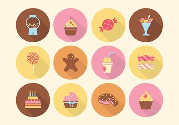 Free Cake And Sweets Vector Icons - Free vector #147621