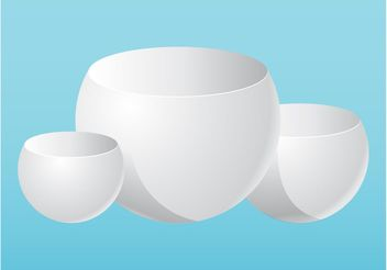 Bowls Composition - vector gratuit #147661