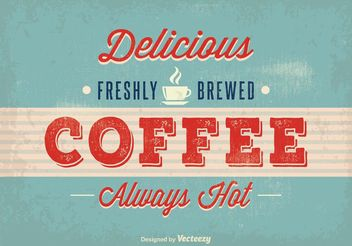 Vintage Coffee Poster - Free vector #147711