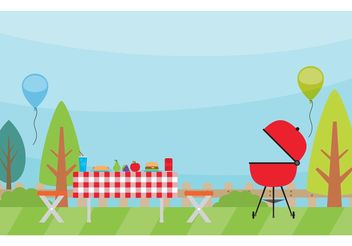 Camping Landscape Vector - Free vector #147801