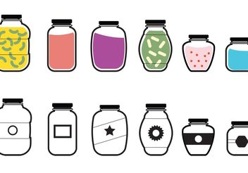 Mason Jar Vector Icons - бесплатный vector #147901