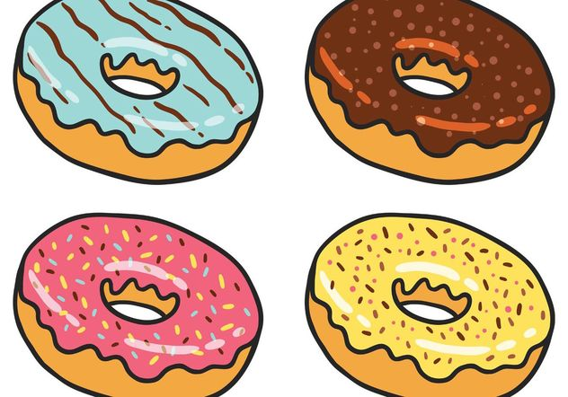 Donut Vector Pack - Free vector #147931